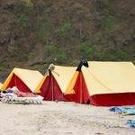 Tents at the rafting spot - Rishikesh - Uttarakhand