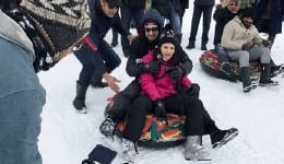 Sunny Leone got playful in Kashmir's snow and the Internet took notice. VIEW PICS.