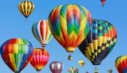 Hot air ballooning festival in Munnar