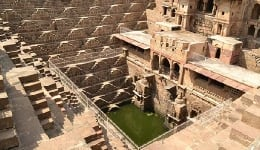 Chand Baori – Step in to this timeless, perfectly symmetrical 3D step well from the ancient days