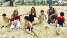 Hrithik Roshan and Sussanne Khan reunite in Dubai for a family vacation! VIEW PICS!