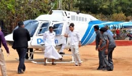 Now enjoy a helicopter ride over Hyderabad!