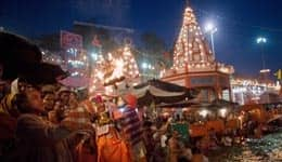 Festival of lights in Haridwar