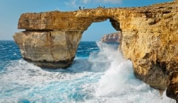 Heavy storms bring down the iconic Azure Window arch in Malta