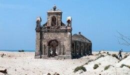 Discover hauntingly beautiful Dhanushkodi, the southernmost tip of Pamban island in Tamil Nadu