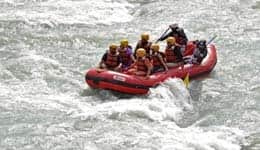 White river-rafting in Pahalgam