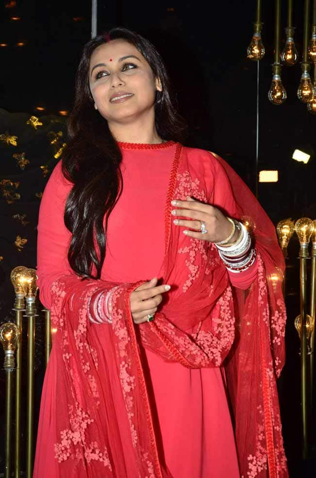 Rani Mukerji Looks Gorgeous In Red After Marriage Check Out Exclusive Pics
