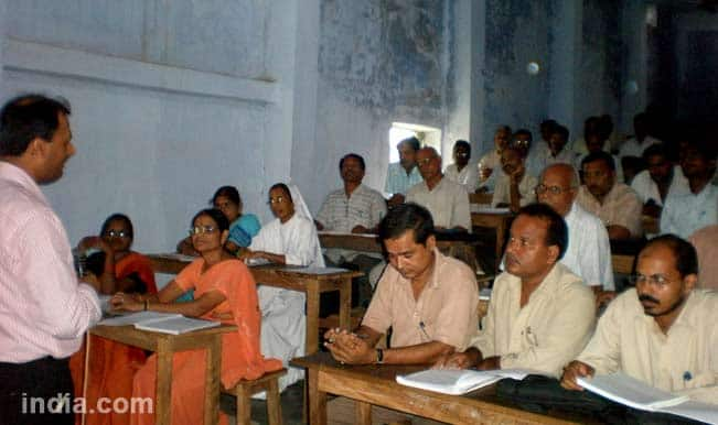 Bihar teachers protest botched competency test results