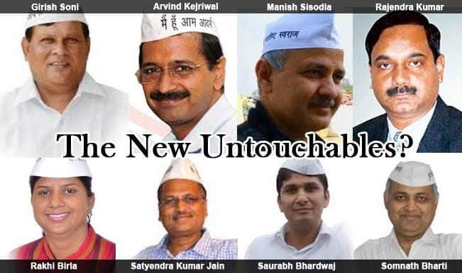 Arvind Kejriwal's ministers: Are they the new Untouchables in town?