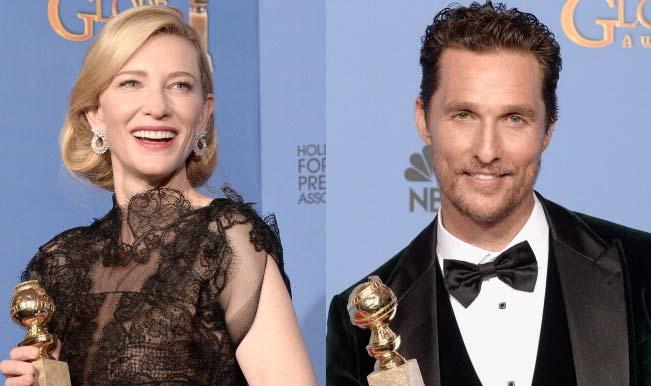 Golden Globes: Cate Blanchett, Matthew McConaughey win best actors