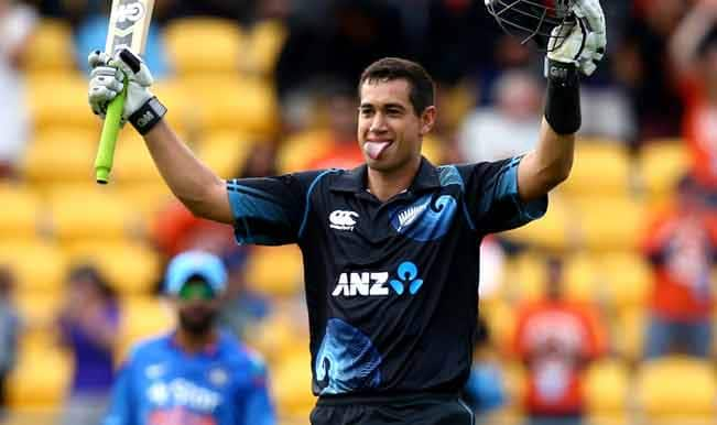 Ross-Taylor-of-New-Zealand-celebrates-his-century-during-Game-5-of-the-men's-one-d