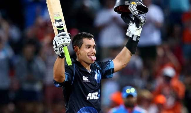 Ross-Taylor-of-New-Zealand-celebrates-his-century-during-game-four-of-the-men's-on