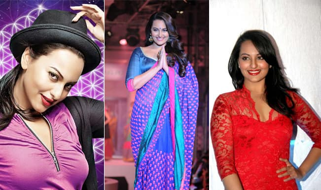 sonakshi shiny clothes