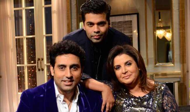 Koffee with Karan: Abhishek Bachchan gets hamper for the lap job?