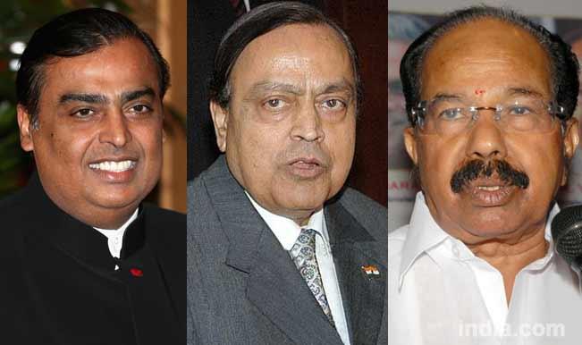 Mukesh-Ambani,-Veerappa-Moily,-Murli-Deora