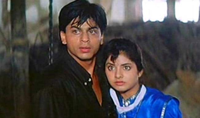 Shahrukh Khan and Divya Bharti in Deewana