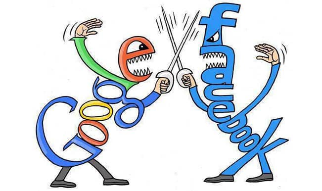 facebook and google fighting