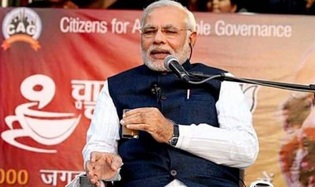Narendra Modi kickstarts Chai Pe Charcha campaign in Ahmedabad