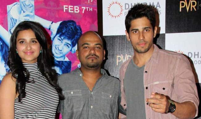 Parineeti Chopra, Vinil Mathew and Sidharth Malhotra