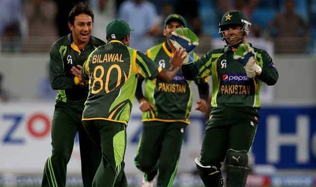 Players-of-Pakistan-celebrate-the-wicket-of-Kusal-Janith-Perera-of-Sri-Lanka-during-the-s