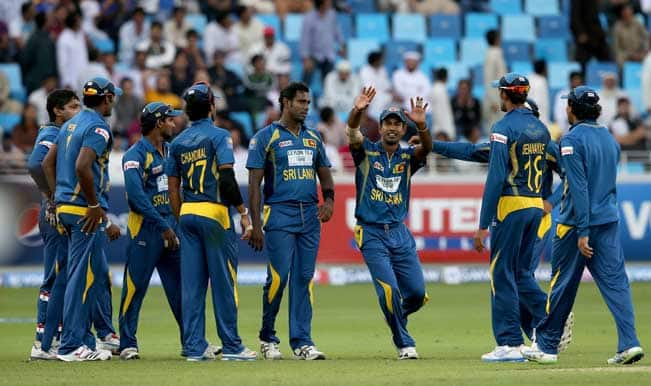 Players-of-Sri-Lanka-during-the-second-One-Day-International-(ODI-)-match-between-Sri-La