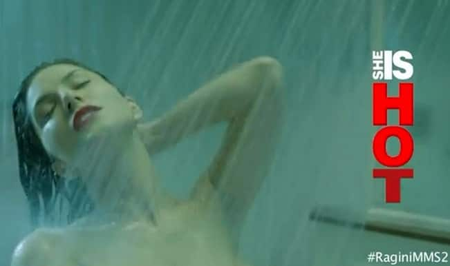 sunny leone shower scene in Ragini MMS 2 video