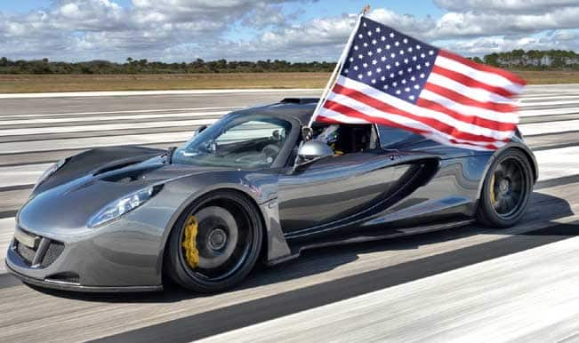 World's fastest car at 435 kilometres per hour is Hennessey's Venom GT