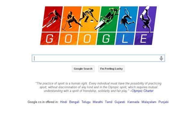 Sochi 2014: Google doodles Rainbow flag, Olympic Charter to show its support