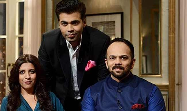 Koffee With Karan 4 Zoya Akhtar and Rohit Shetty