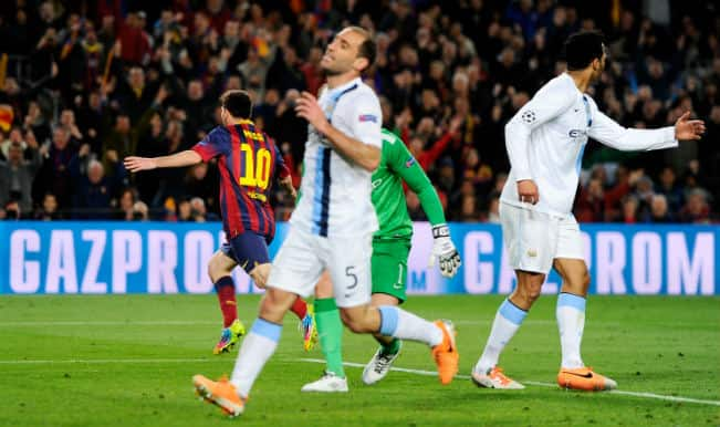 Lionel Messi helps Barcelona beat Manchester City 2-1 in the Champions League