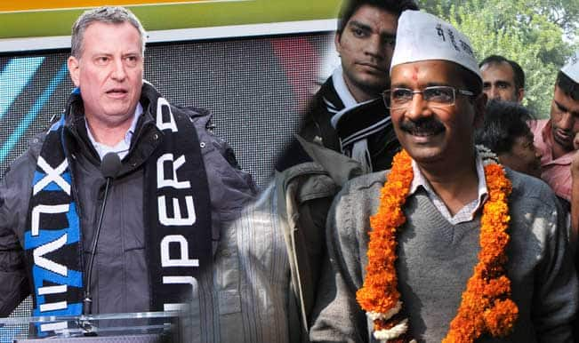 Arvind-&-Mayor-Bill-de-Blasio