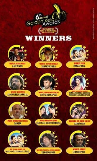 Golden Kela Awards 2014 winners' list