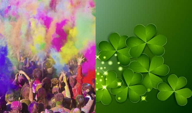 Holi and st patricks day