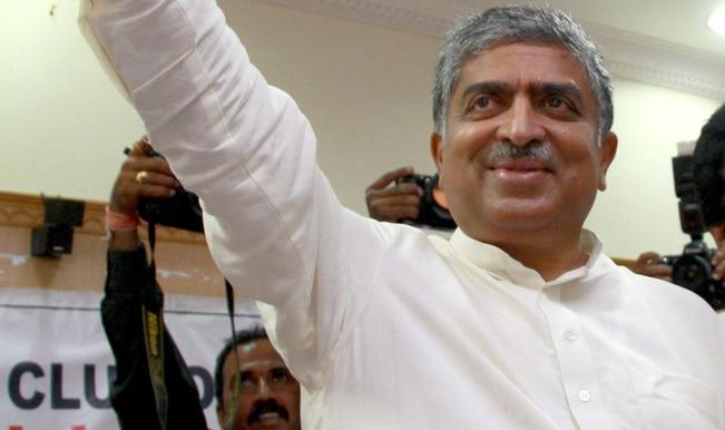 Billionaire Nandan Nilekani files papers from Bangalore South seat