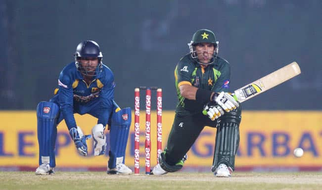 Pakistani-cricketer-Misbah-ul-Haq-in-action-during-the-1st-ODI-match-of-Asia-Cup-between-Sri-Lanka-and-Pakistan