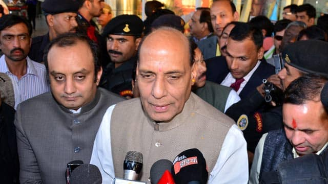 Lok Sabha Elections 2014: Rajnath Singh welcomes Jagdambika Pal and Raju Srivastava to BJP