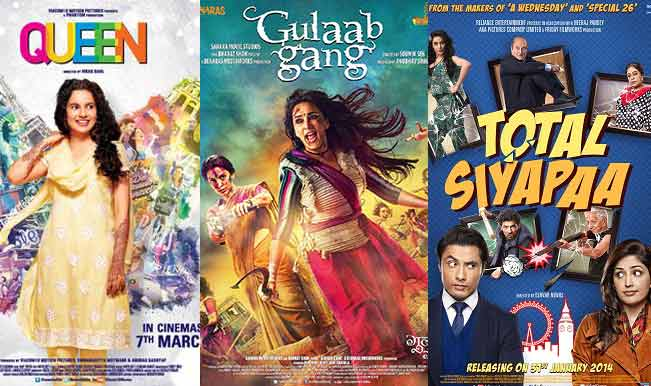 Bollywood Movies of the Week: Gulaab Gang, Queen and Total Siyapaa