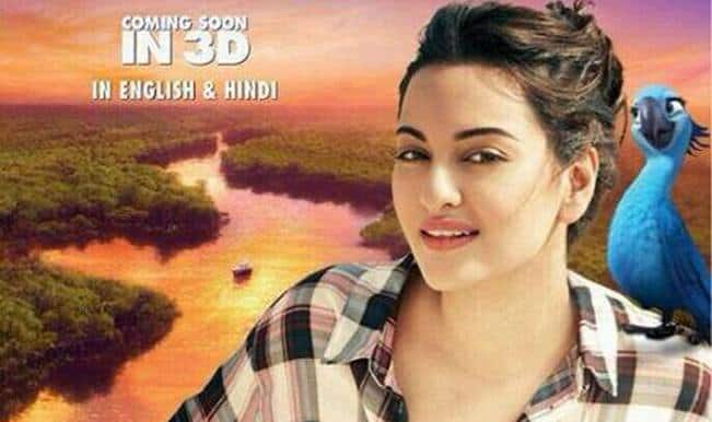 Rio 2 Hindi poster: Sonakshi Sinha strikes a pose with Jewel!