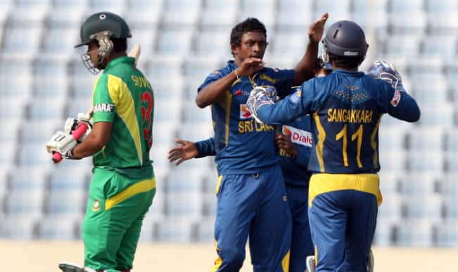 Bangladesh vs Sri Lanka Asia Cup 2014: Sri Lankan bowlers restrict Bangladesh to 204/9