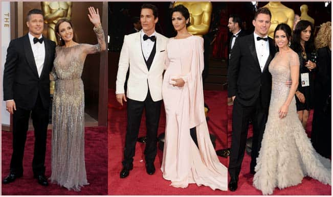 Matthew McConaughey and Camila Alves, Channing Tatum and Jenna Dewan-Tatum,Brad Pitt and Angelina Jolie