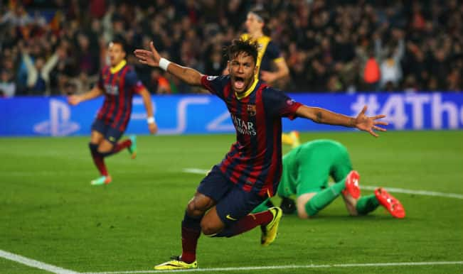 Neymar strike equalizes for Barcelona against Atletico Madrid in Champions League
