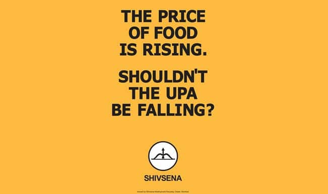 Creative appeals from Shiv Sena:  Directly points finger at Congress through their unique print advertisements