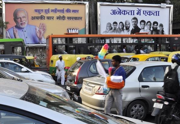 'Abki Baar Modi Sarkar' makes 'Bharat Nirman' bite the dust