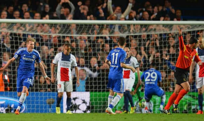 Late Chelsea goal helps beat PSG to reach semi-finals of Champions League
