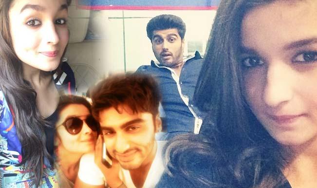 Alia Bhatt on a selfie spree: Looks adorable with Arjun Kapoor during '2 States' promotions
