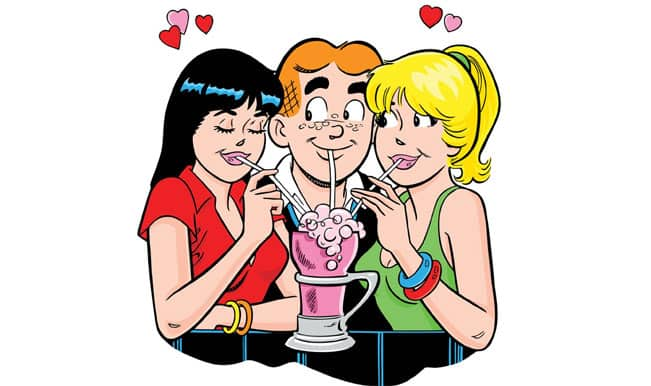 Archie Andrews with Veronica Lodge and Betty Cooper