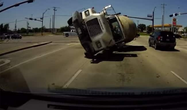 Cement Mixer vs Toyota: Watch video