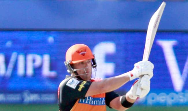IPL 2014: David Warner shines as Sunrisers Hyderabad post 172 against Mumbai Indians