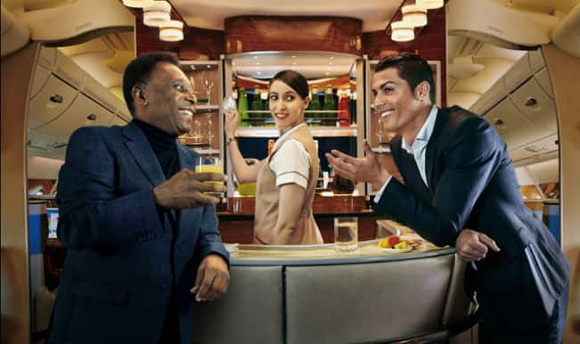 Emirates advertisement: What happens when Cristiano Ronaldo and Pele are on the same plane?