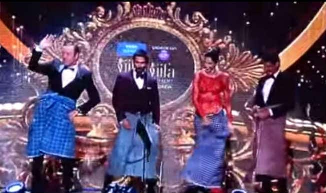 Hilarious IIFA Awards 2014 video: Kevin Spacey, Deepika Padukone do the Lungi dance on stage!